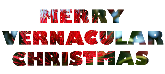 merry vernacular christmas