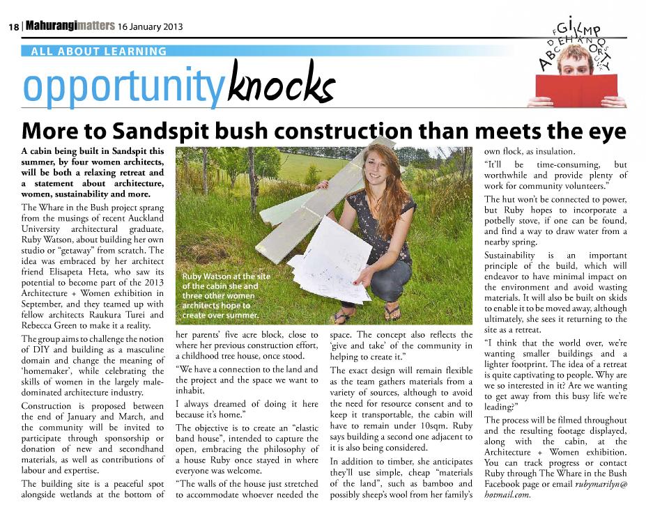mahurangi matters article