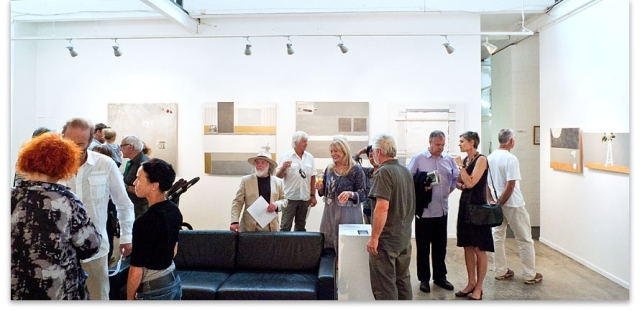 The opening of Rodney's painting exhibition 'Mo's Kitchen' at Depot Artspace 2012.