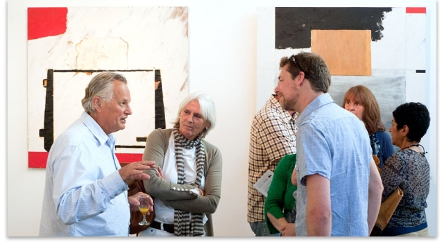 Rodney (far left) at the opening of his exhibition 'Mo's Kitchen - An anthropology of the kitchen' at Depot Artspace in February 2012.