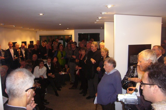The opening of the Rodney Wilson tribute exhibition at Satellite gallery 2011.