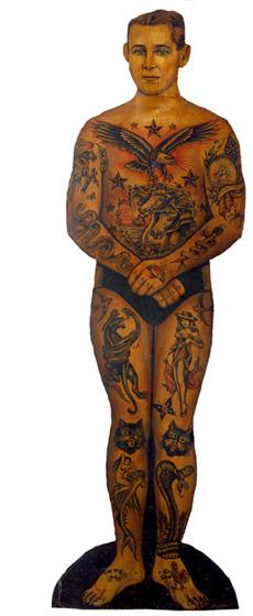 Tattoo Trade Stimulator 1935-1940 68 inches high