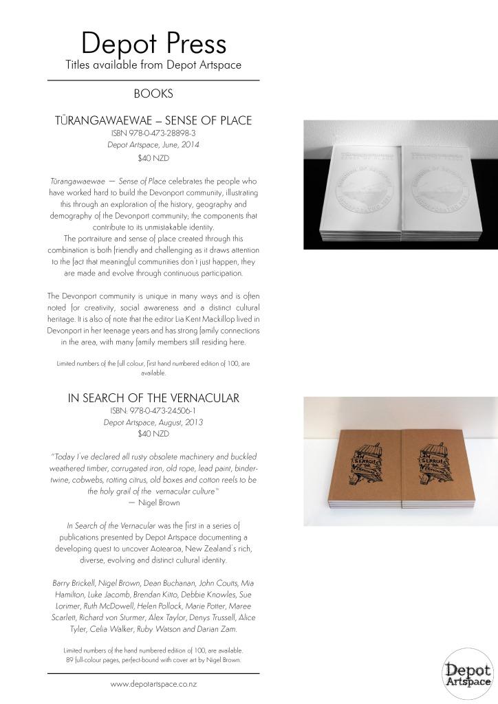Depot Press catalogue 2015 page 1
