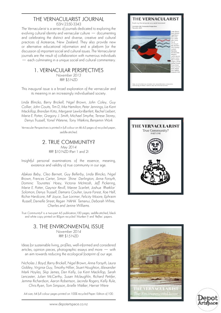 Depot Press catalogue 2015 page 2