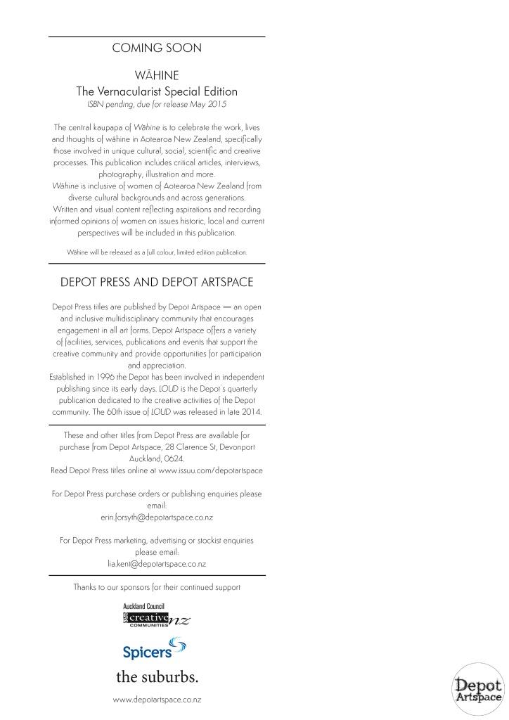 Depot Press catalogue 2015 page 4